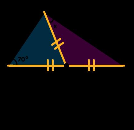 Triângulos isósceles formados dentro da figura
