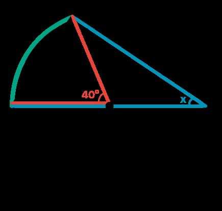 Ângulos central e inscrito delimitam o mesmo arco na circunferência