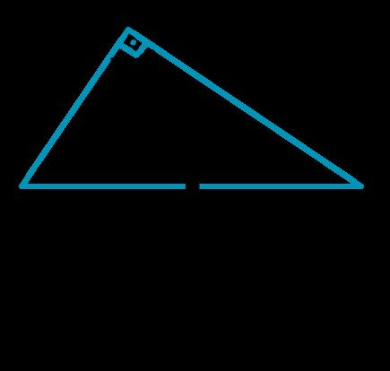 Exemplo de triângulo retângulo inscrito na circunferência