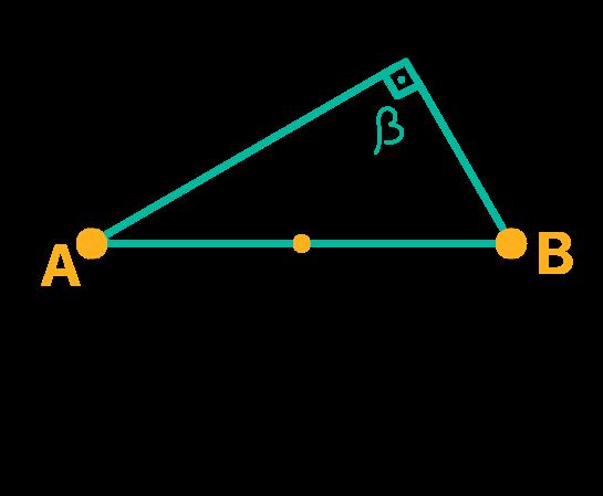 Triângulo retângulo inscrito na circunferência