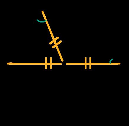 Triângulos isósceles têm dois ângulos iguais