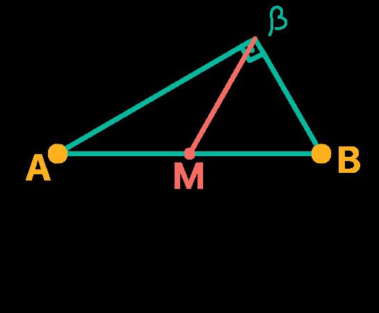 Segmento equivalente a mediana relativa à hipotenusa