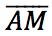 segmento do ponto A até o ponto M