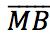 segmento do ponto M até o ponto B