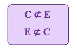 O conjunto E não está contido no cojunto C