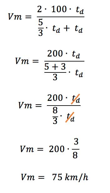 Conclusão do cálculo que comprova que a média harmônica deve ser utilizada