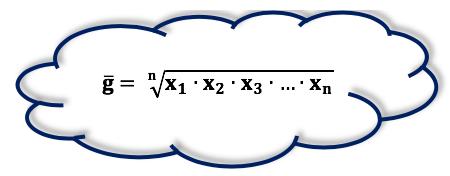 Ressaltando a fórmula da média geométrica
