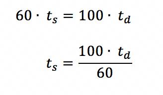 Igualando as duas expressões que definem a distância percorrida em função do tempo