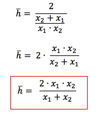 Conclusão sobre a fórmula da média harmônica para dois elementos