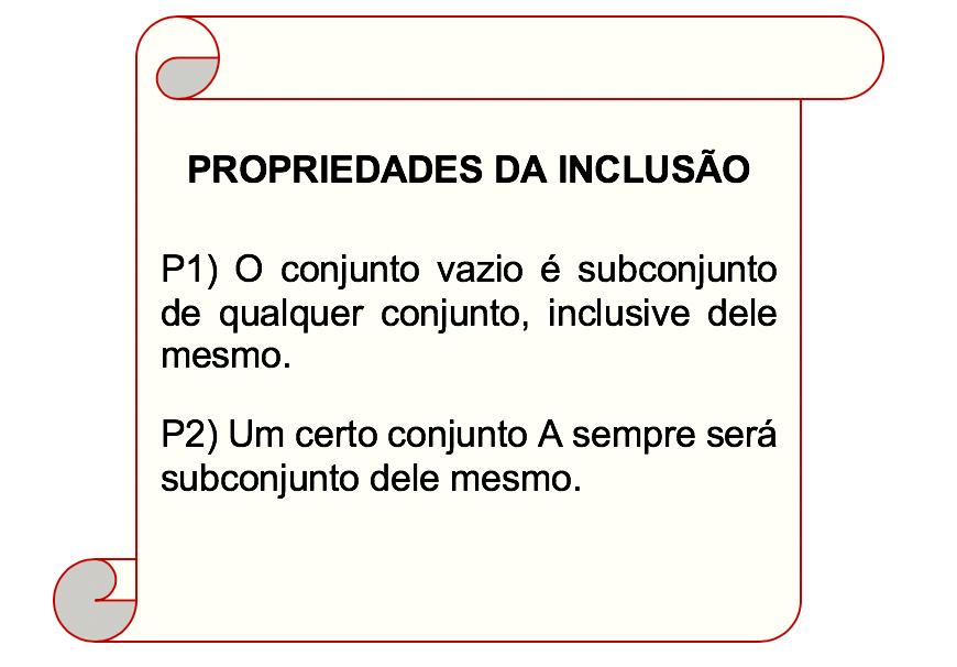 As duas propriedades da inclusão descritas em um pergaminho