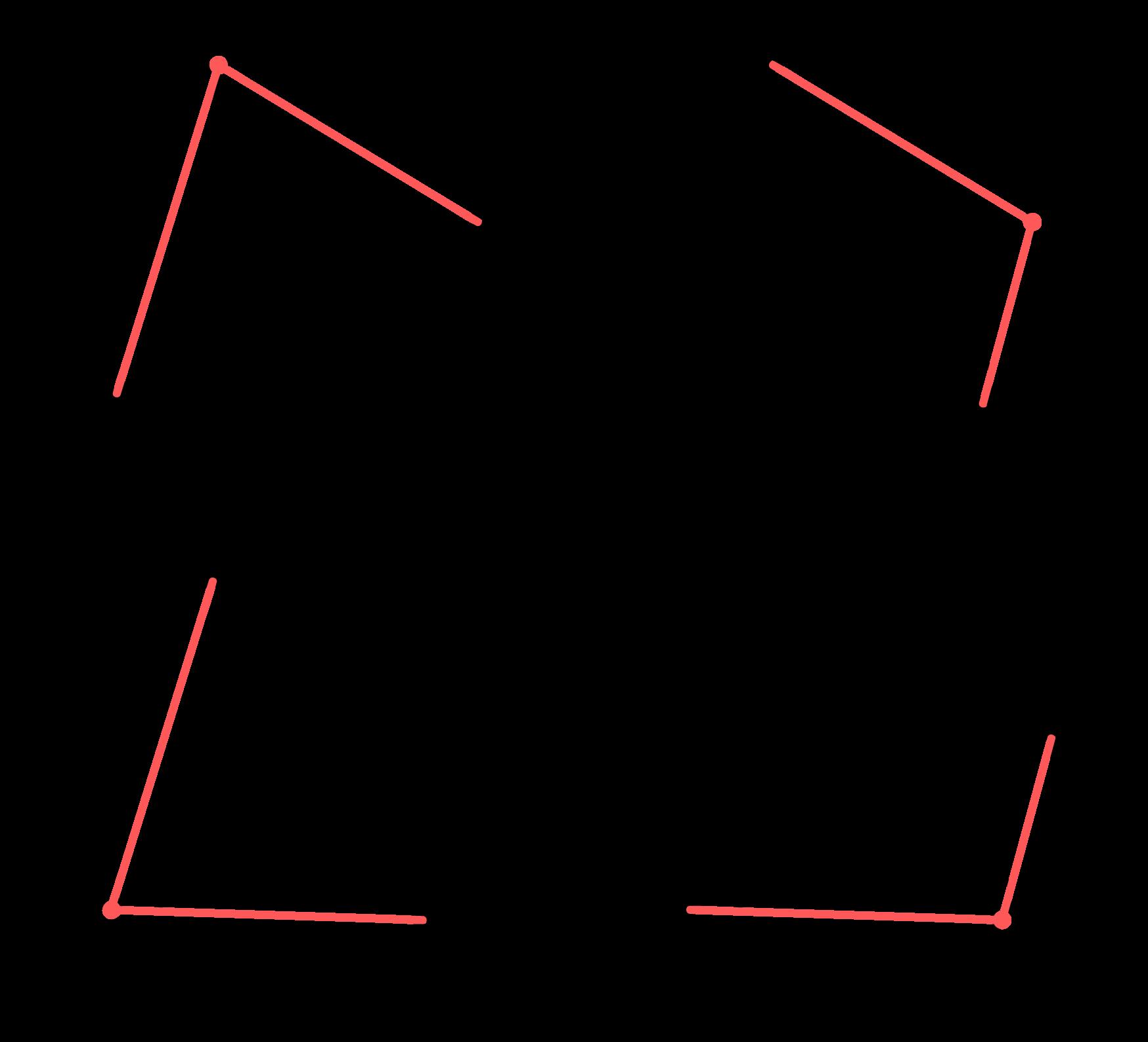 4 vértices do quadrilátero são 4 vértices de ângulos inscritos