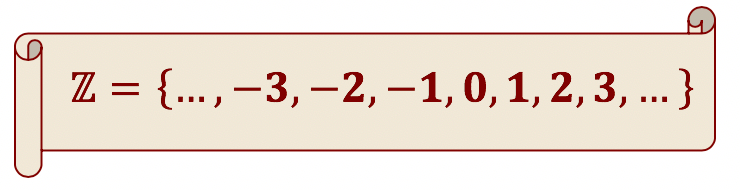 Elementos do conjunto dos números inteiros
