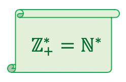 O subconjunto dos números inteiros positivos é igual ao conjunto dos números naturais não nulos
