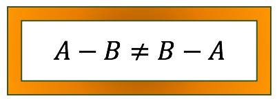 A menos B é diferente de B menos A