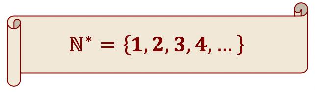 Descrição do subconjunto dos números naturais não nulos