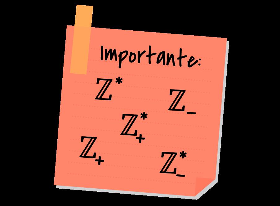 Post it com todos os símbolos dos subconjuntos notáveis