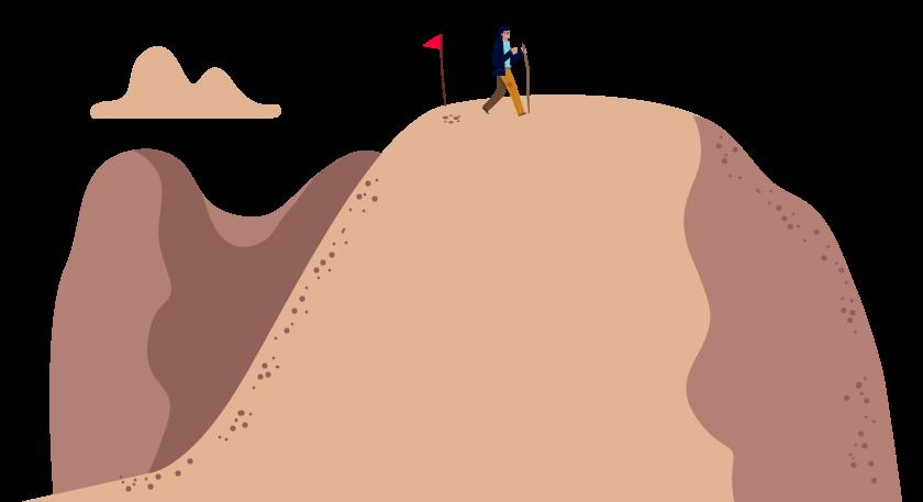 Pessoa andando em um terreno plano