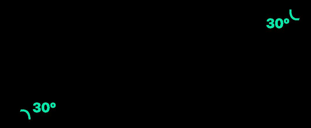dois ângulos opostos do paralelogramo valem 30 graus