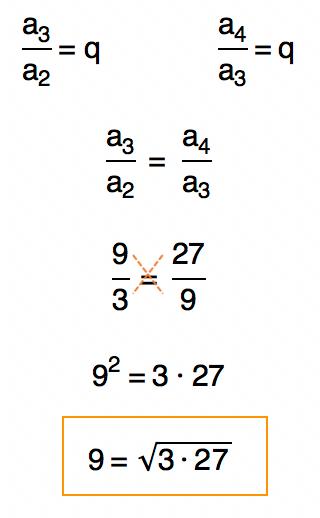 Encontrando a fórmula da média geométrica entre os termos da PG através da definição de PG