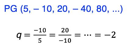 Sequência numérica em que os termos oscilam entre valores positivos e negativos