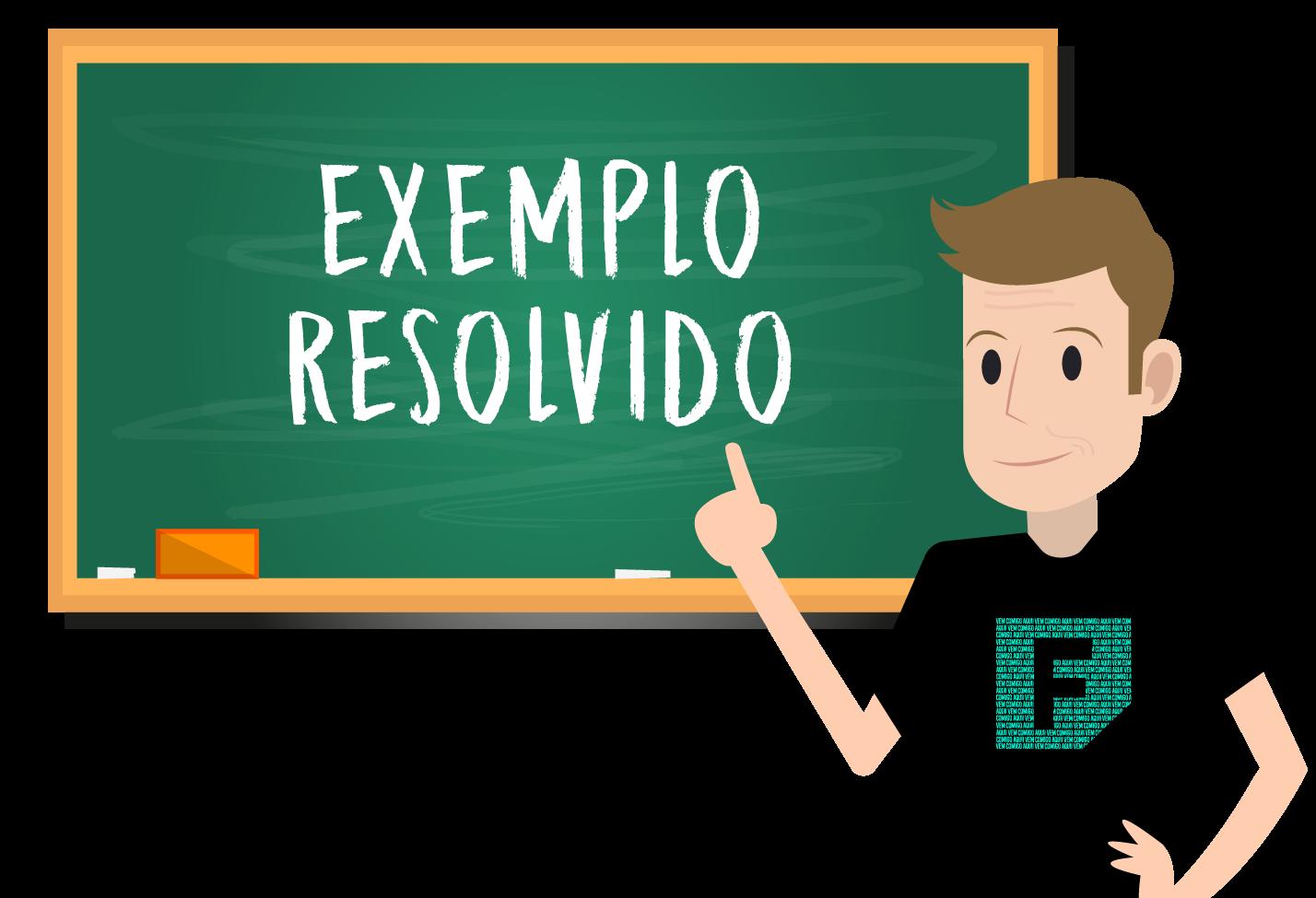 Ferretto resolve um exemplo sobre o cálculo da razão da progressão geométrica