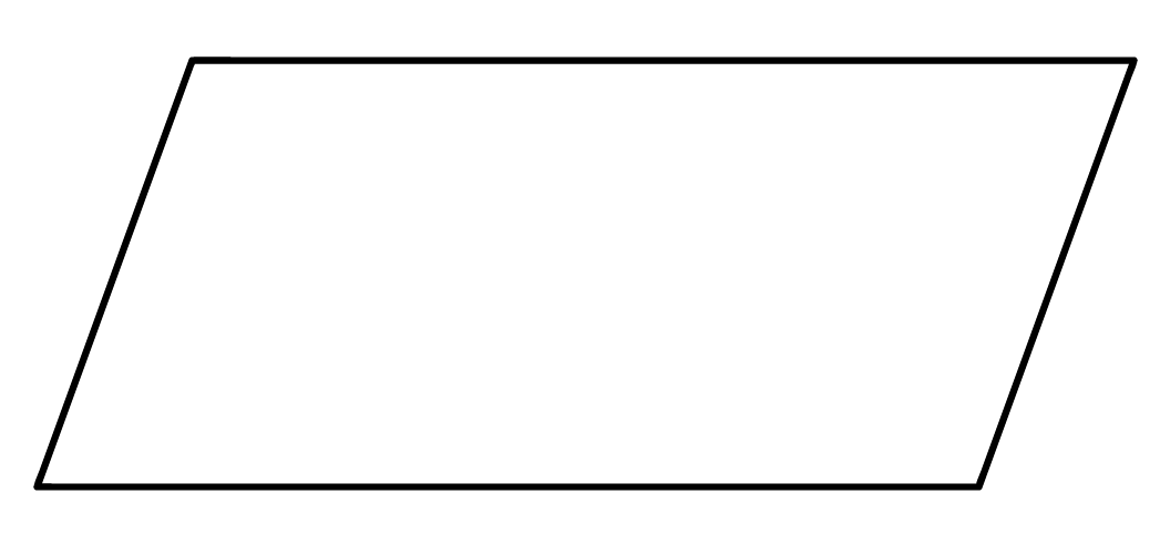 forma geométrica do paralelogramo