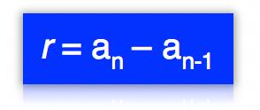 Fórmula geral da razão da progressão aritmética
