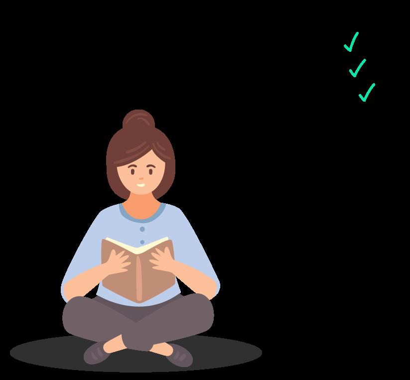 aluna lendo sobre os lados ângulos e diagonais do retângulo