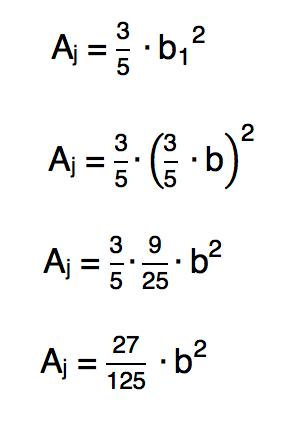 substituindo o valor da base do retângulo do jardim pelo valor correspondente em função de b