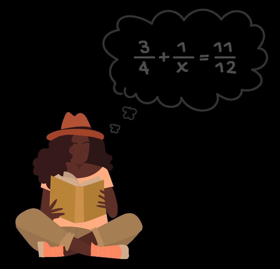 Aluna está estudando como irá resolver uma equação fracionária