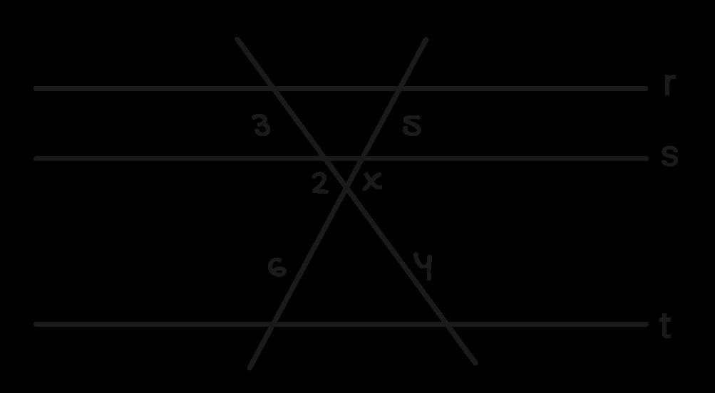 retas transversais ao feixe de retas paralelas exercicio 2