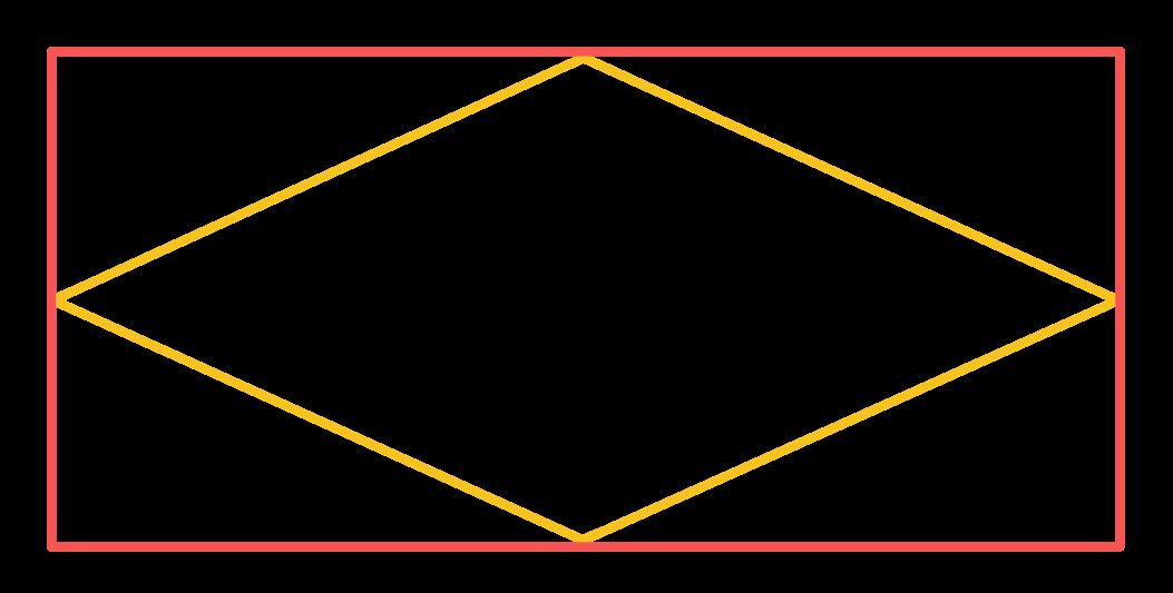 losango dentro de um retângulo
