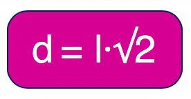 fórmula da diagonal do quadrado é o produto entre l e raiz de 2