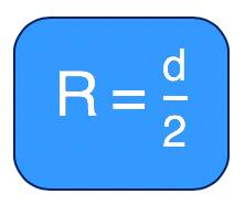 medida do raio da circunferência circunscrita no quadrado é a metade da medida da diagonal do quadrado