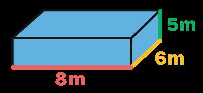 paralelepípedo com as dimensões 8 6 e 5 ilustradas