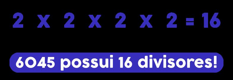 2x2x2x2=16 então 6045 possui 16 divisores