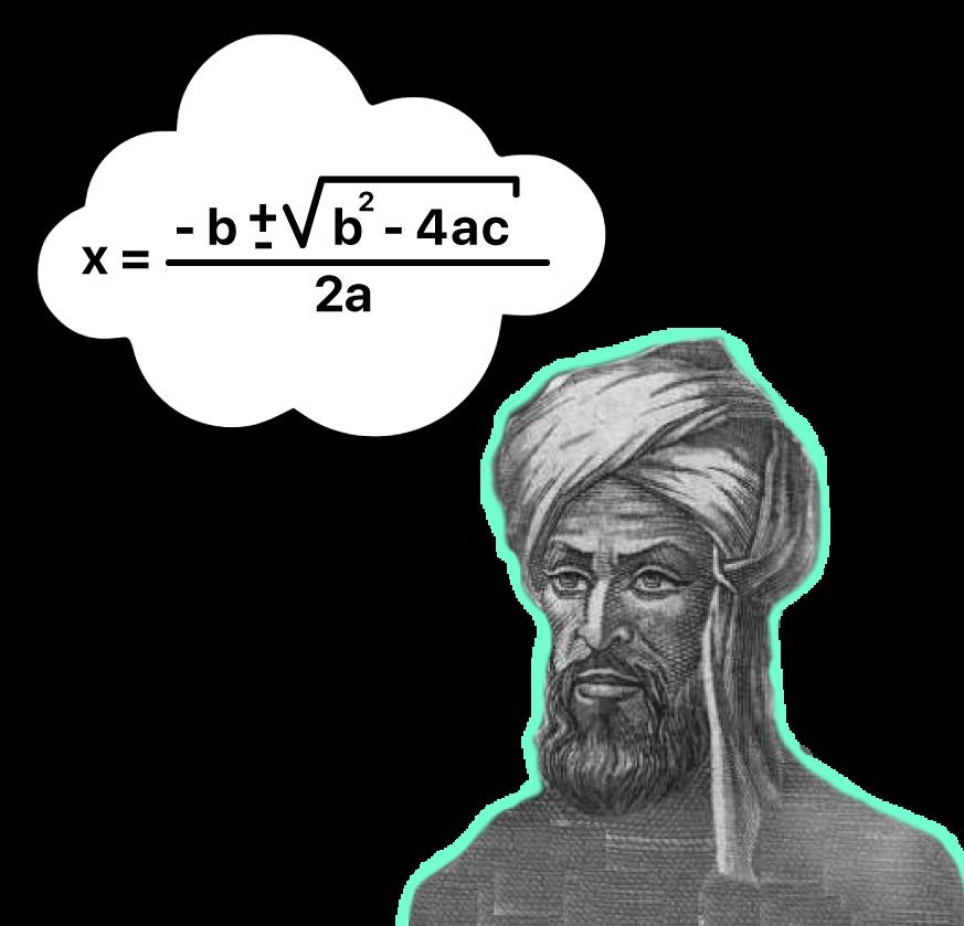 Bhaskara está pensando na fórmula quadrática