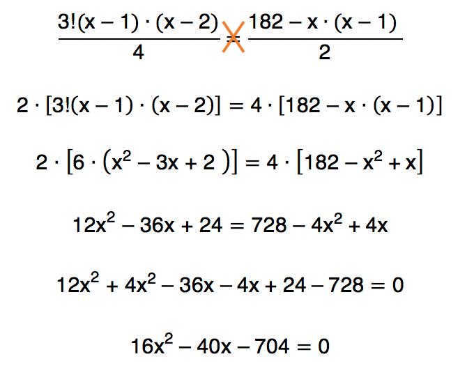 manipulando a igualdade chega-se a uma equação do segundo grau