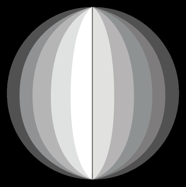 bola esférica dividida em 24 faixas
