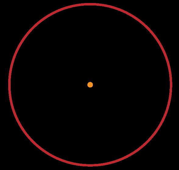 centro da circunferência