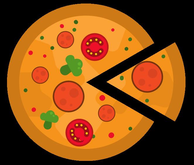 uma fatia de pizza representa um setor circular