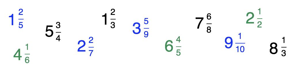 11 números mistos
