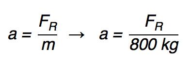 Exercício resolvido sobre a Segunda Lei de Newton da PUC - SP