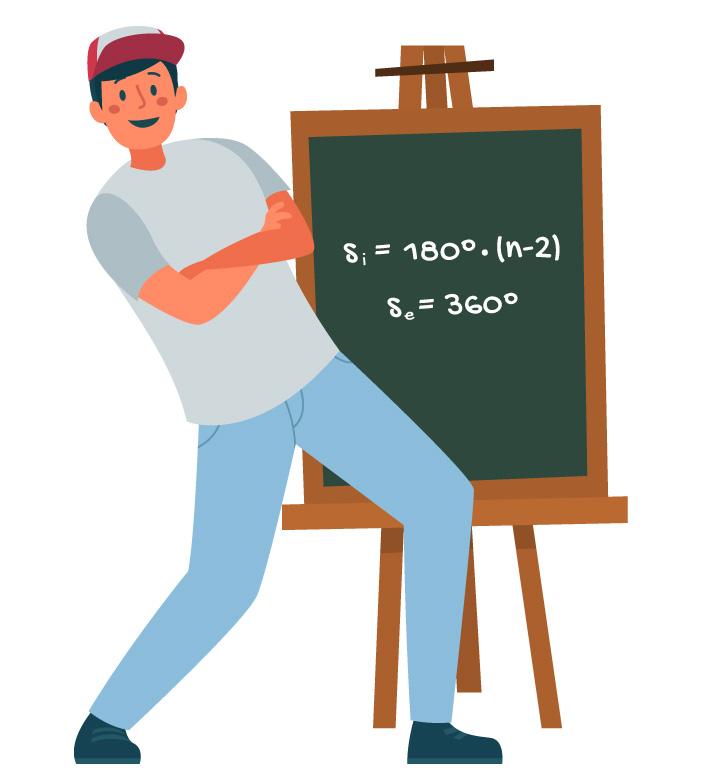 Si = 180˚.(n-2) e Se = 360˚