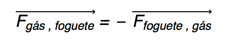Igualdade vetorial de um par ação e reação.