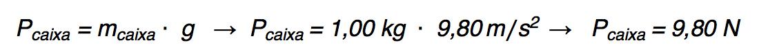 Calculando o peso de uma caixa.