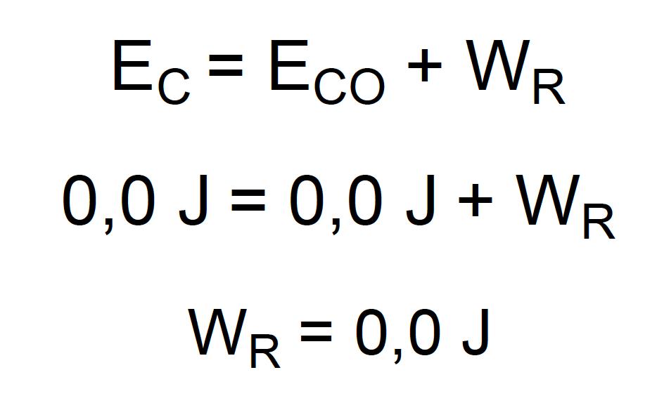 Cálculo do trabalho resultante sobre a maçã