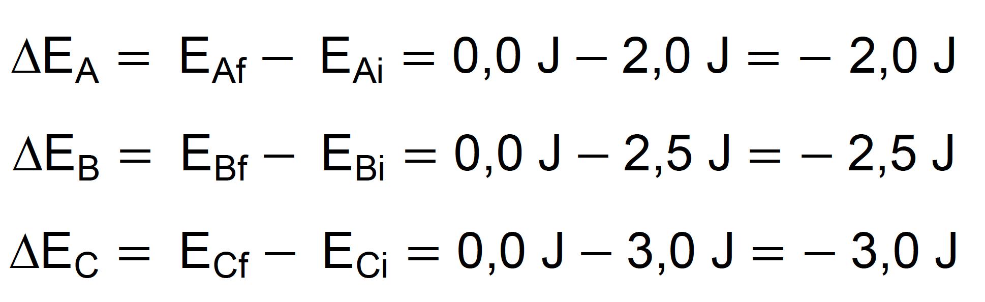 Cálculo da variação de energia potencial quando as maçãs caem no chão