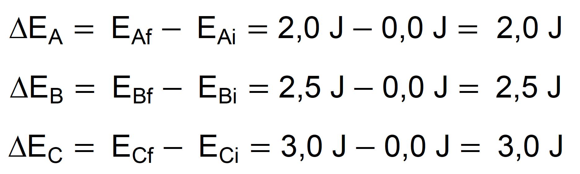 Cálculo da variação de energia potencial quando as maçãs são erguidas