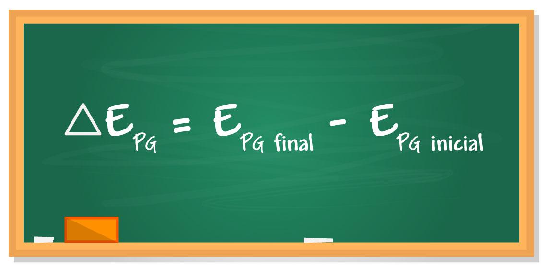 Fórmula da variação de energia potencial gravitacional